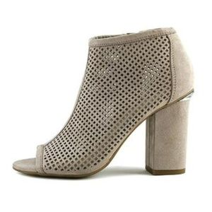 bar III Womens Fabric Open Toe Ankle Fashion Boots
